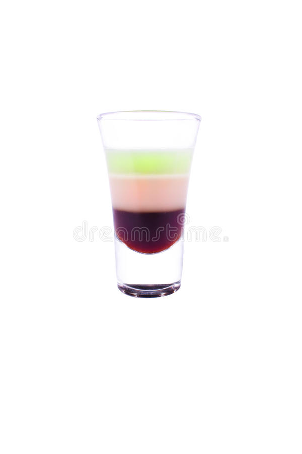 Alcool du cocktail B-52 photographie stock