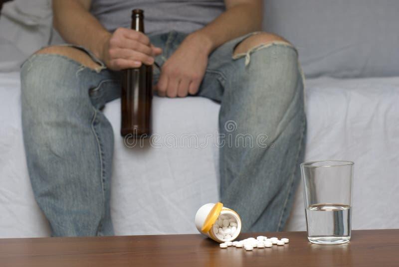 Alcool e droghe fotografie stock libere da diritti