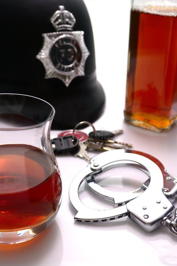 Alcool et la loi images libres de droits
