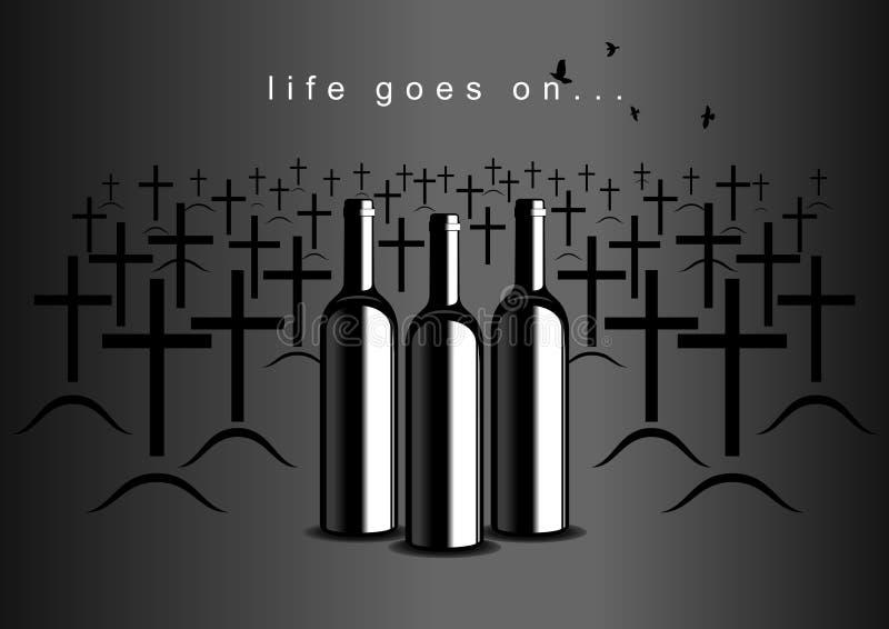 Alcoolismo ilustração do vetor