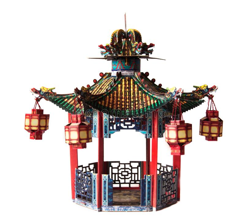 Alcova chinesa isolada no fundo branco fotos de stock royalty free