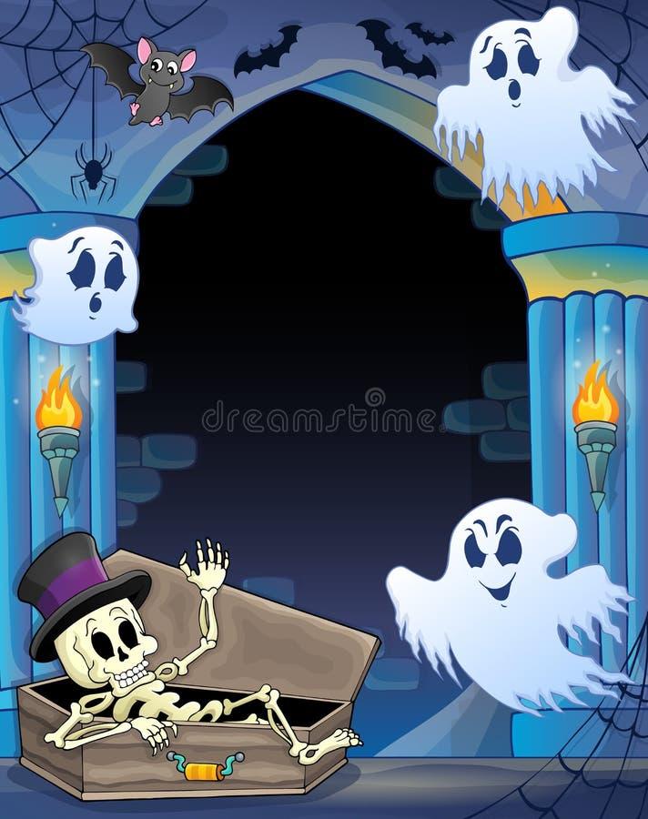 Alcova della parete con il tema 1 di Halloween illustrazione di stock
