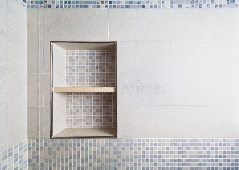 Alcova do mosaico do banheiro foto de stock