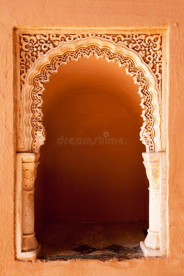 Alcova mouro da oração, Alcazaba, Malaga fotografia de stock