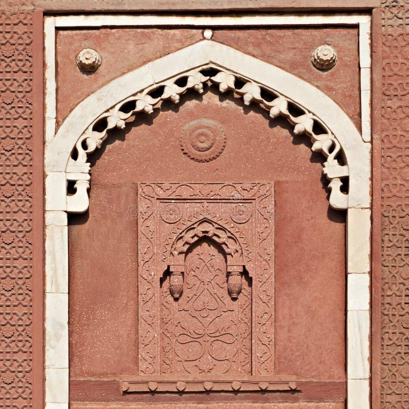 Alcove, forte de Agra foto de stock