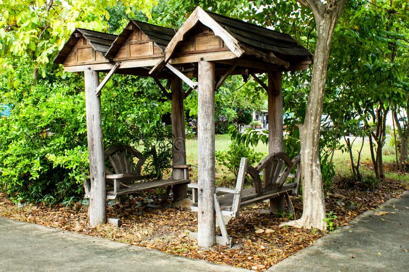 The alcove to sit in the park. The alcove to sit in the park , Thailand royalty free stock photos