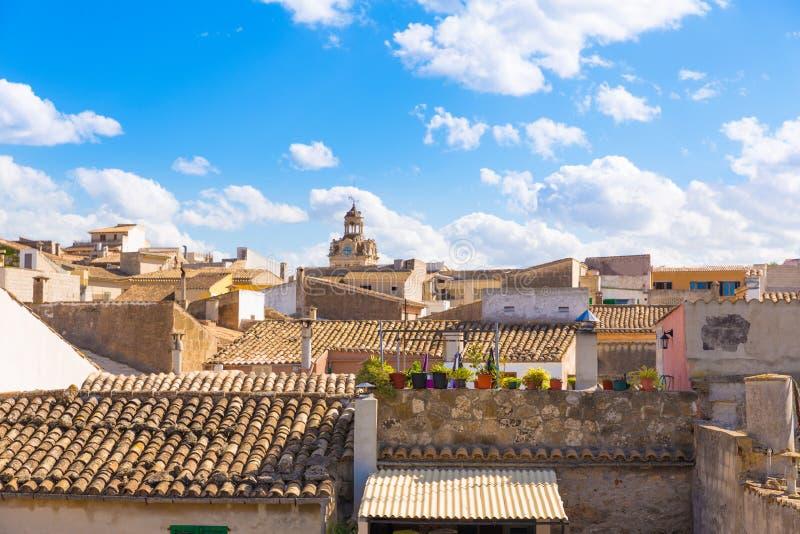 Alcudia老镇在马略卡拜雷阿尔斯的马略卡 库存图片