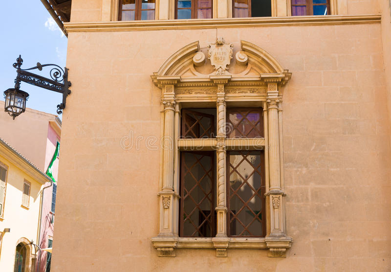 Alcudia Old Town city town hall Majorca Mallorca royalty free stock images