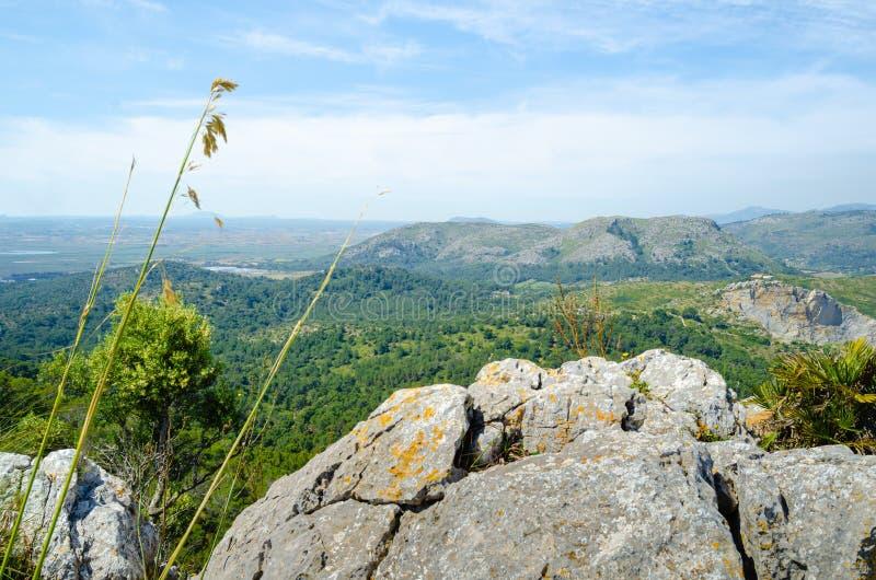 Alcudian山坡风景视图 库存照片