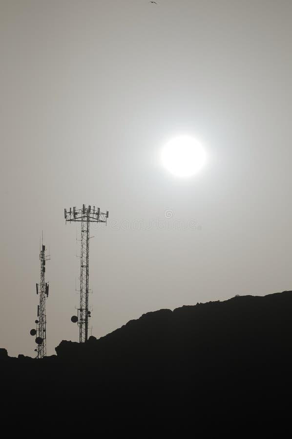 Alcune antenne profilate fotografia stock