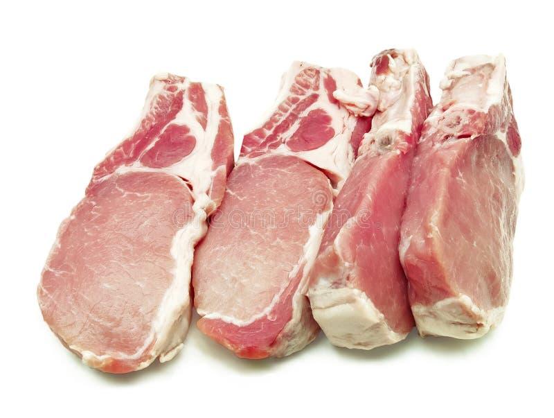 Alcune braciole di maiale immagini stock libere da diritti