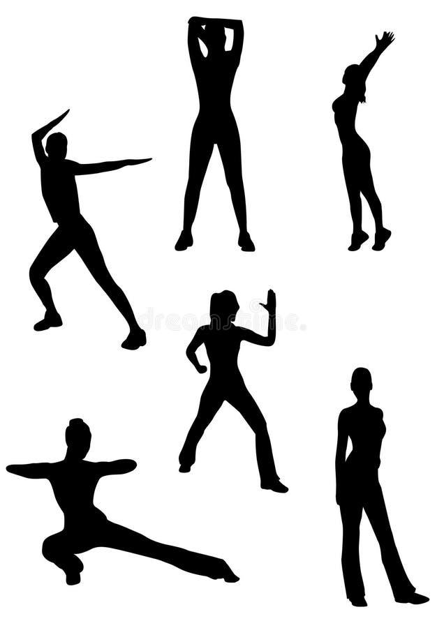 Alcune donne che fanno ginnastica illustrazione di stock