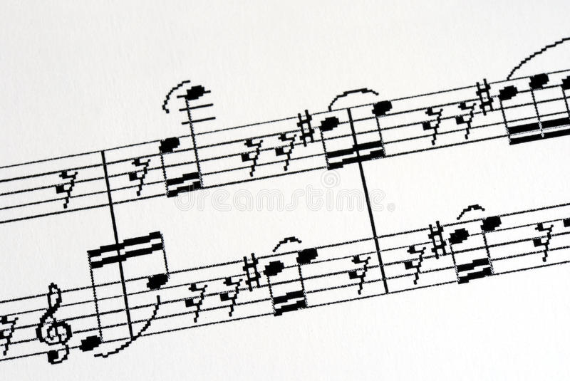 Alcune note interessanti di musica immagine stock libera da diritti