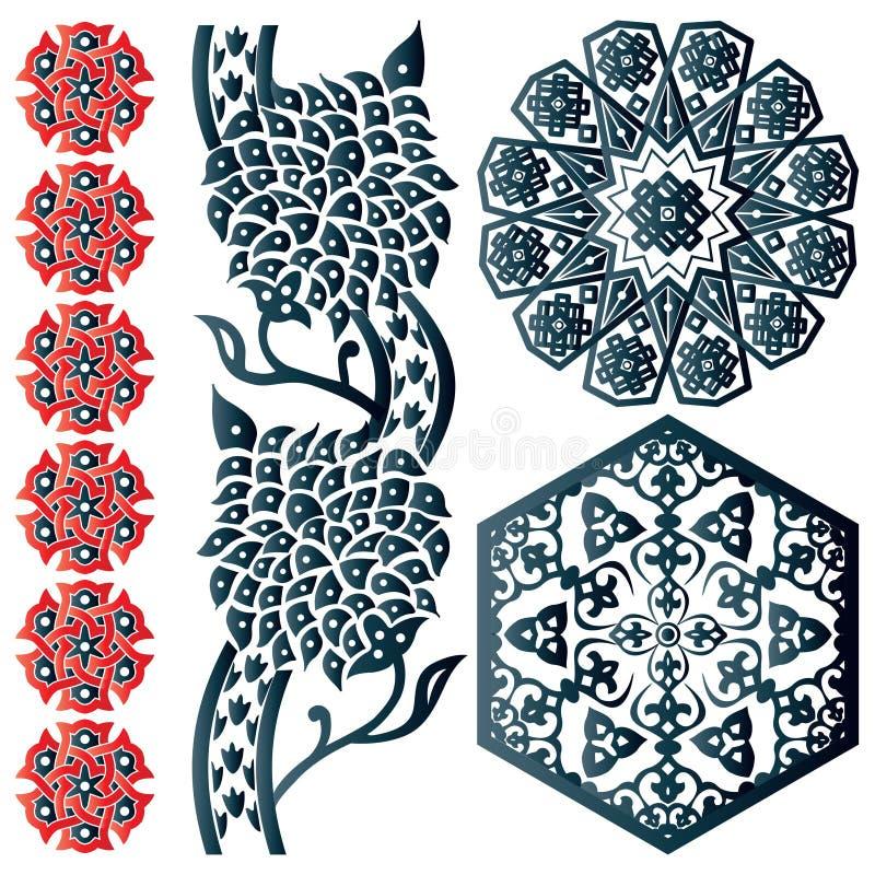 Alcuni elementi islamici di disegno illustrazione di stock