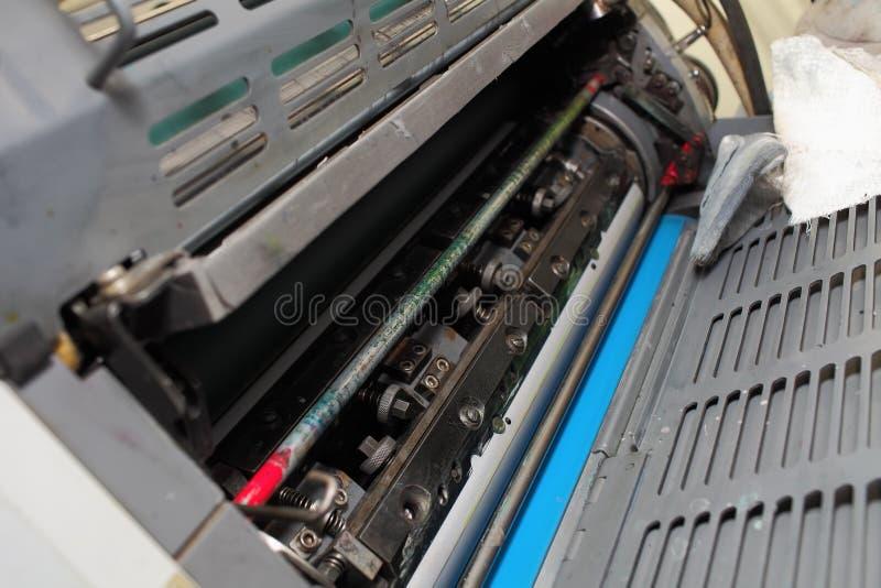 ald橡皮打印机的内部元件 免版税库存照片