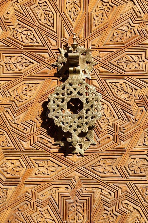 Aldaba vieja de Marruecos foto de archivo