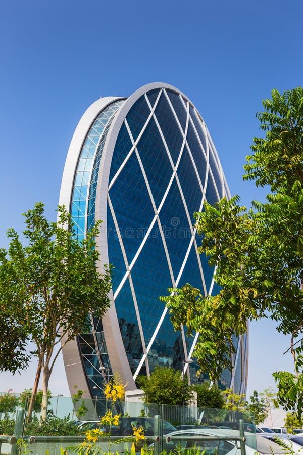 Aldar总部设大厦 免版税库存照片