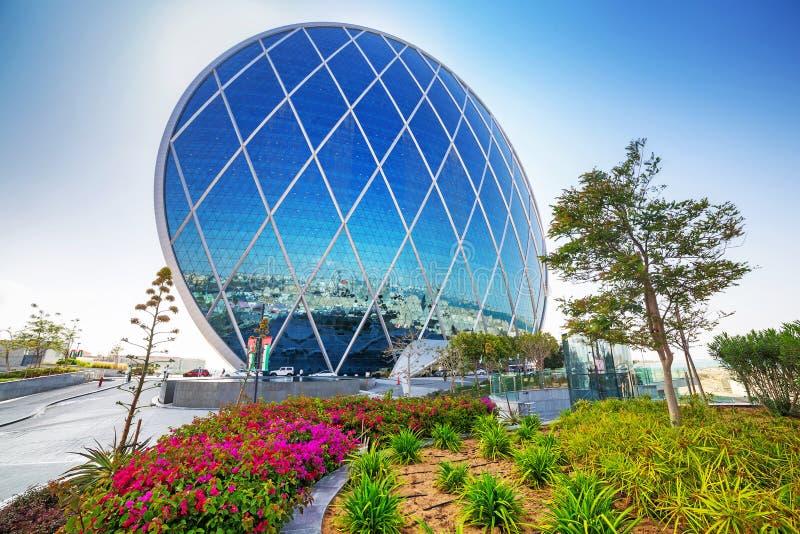 Aldar hat des Gebäudes in Abu Dhabi, UAE stockfotos