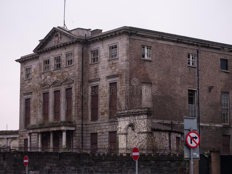 Aldborough Mieści, wielki stary Gruziński dwór na Portlandzkim rzędzie, Dublin, Irlandia fotografia stock
