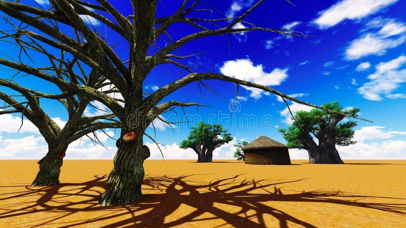 Aldea africana libre illustration