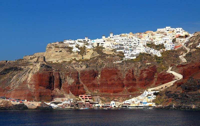 Aldea de Oia, Santorini imagen de archivo libre de regalías