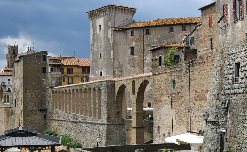Aldea de Pitigliano imagenes de archivo
