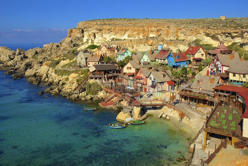 Aldea de Popeye, Malta foto de archivo libre de regalías