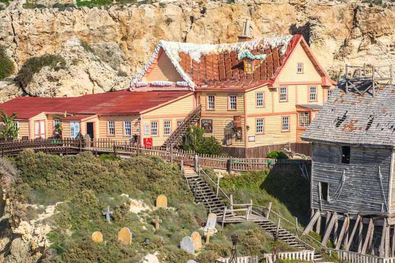 Aldea de Popeye, Malta fotos de archivo libres de regalías