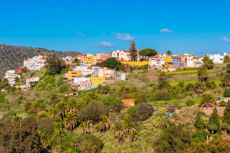 Aldea de Santa Brigida en Gran Canaria España imagenes de archivo