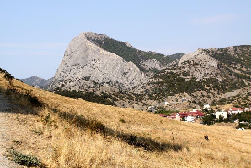 Aldea de Sudak, Crimea fotografía de archivo libre de regalías