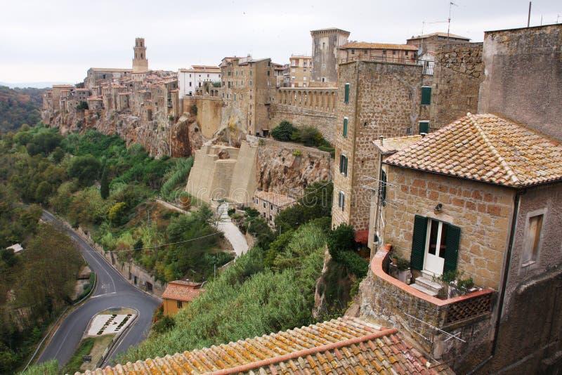 Aldea de Toscana imagen de archivo