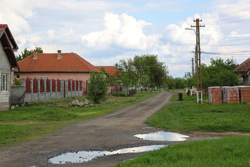 Aldea en Rumania foto de archivo libre de regalías