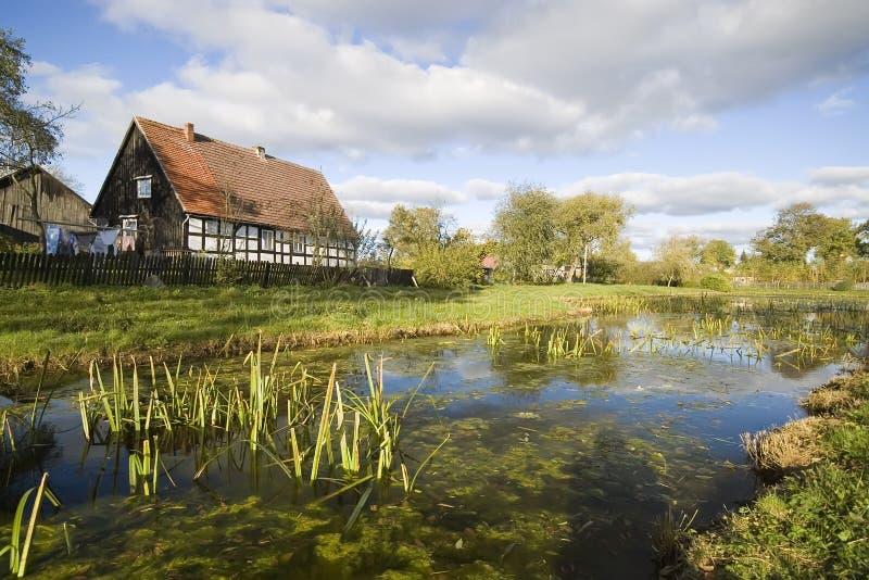 Aldea escénica, Polonia. fotos de archivo libres de regalías