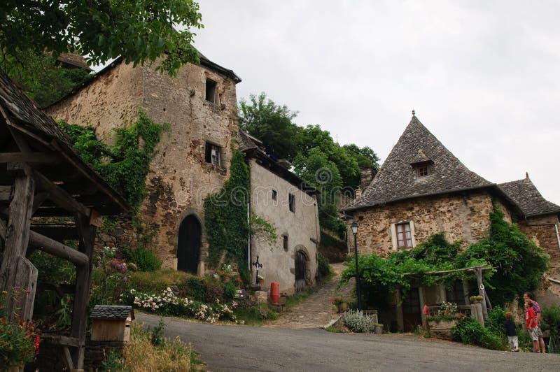 Aldea francesa vieja foto de archivo