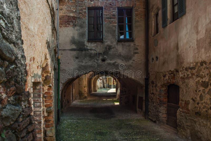 Aldea italiana vieja fotografía de archivo