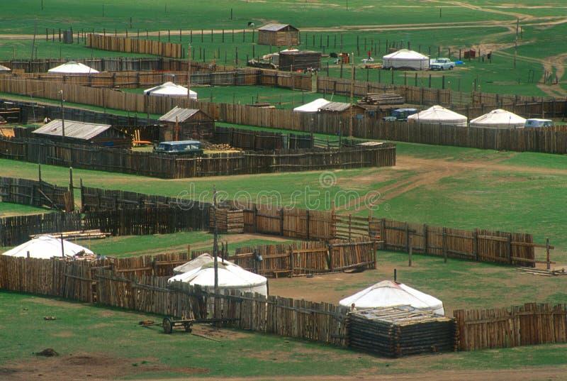 Aldea mongol fotos de archivo libres de regalías