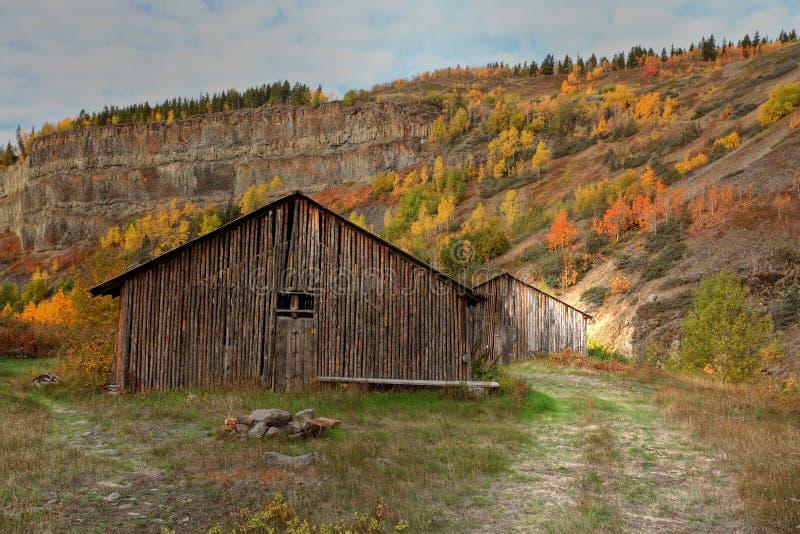 Aldea nativa en Columbia Británica norteña imágenes de archivo libres de regalías