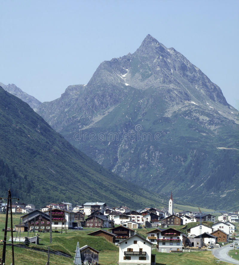 Aldea suiza fotos de archivo libres de regalías