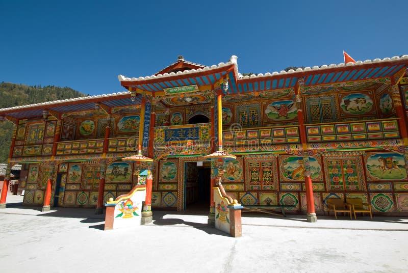 Aldeas tibetanas fotografía de archivo
