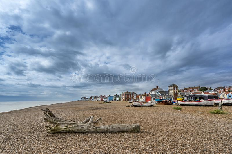 Aldeburgh in the county of Suffolk royalty free stock image