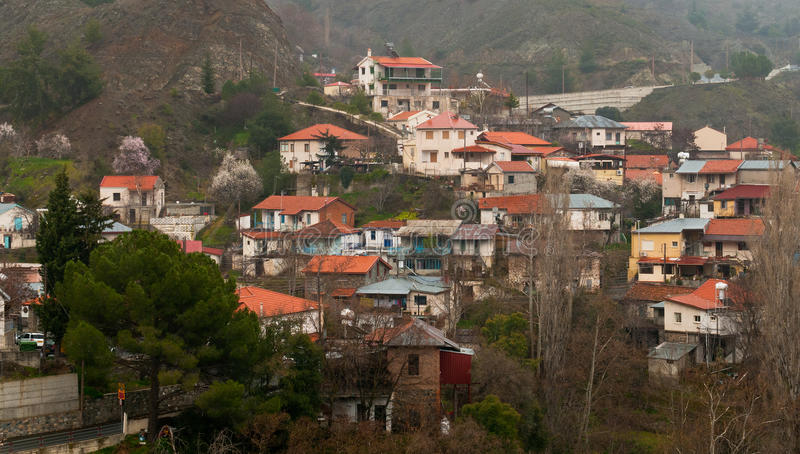 Aldeia da montanha de Phoini, Chipre imagens de stock royalty free