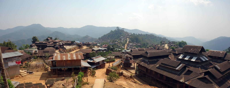 Aldeia da montanha, estado de Shan, Myanmar imagens de stock