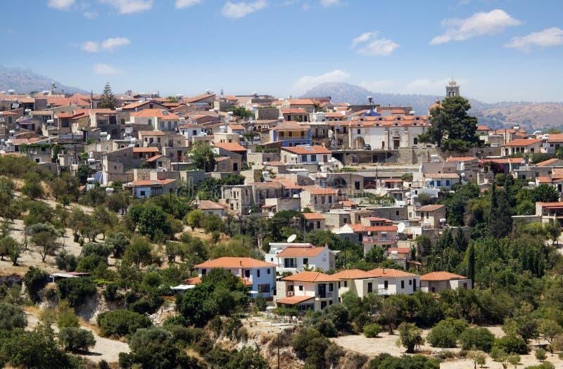 Aldeia da montanha Pano Lefkara, Chipre fotos de stock royalty free