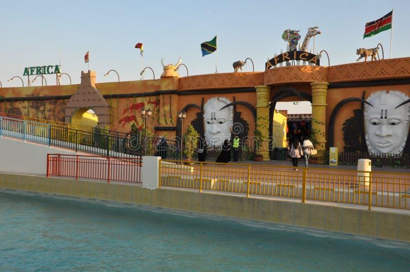 Aldeia global em Dubai, UAE imagem de stock