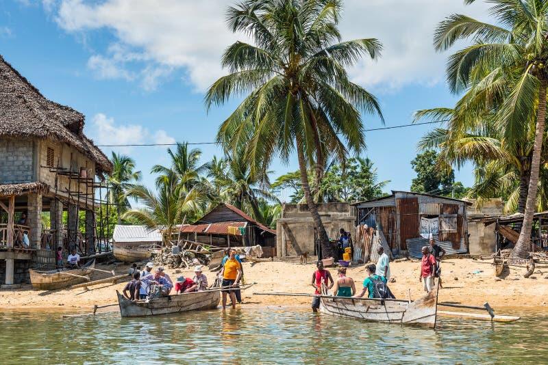 Aldeia piscatória de Madagáscar imagem de stock royalty free