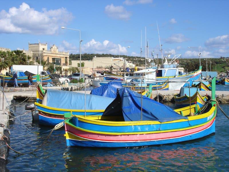 Aldeia piscatória de Malta imagens de stock royalty free