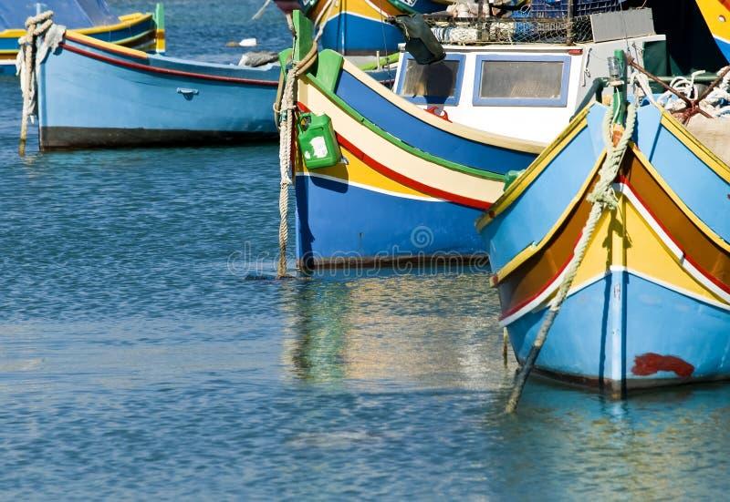 Aldeia piscatória de Malta fotos de stock royalty free