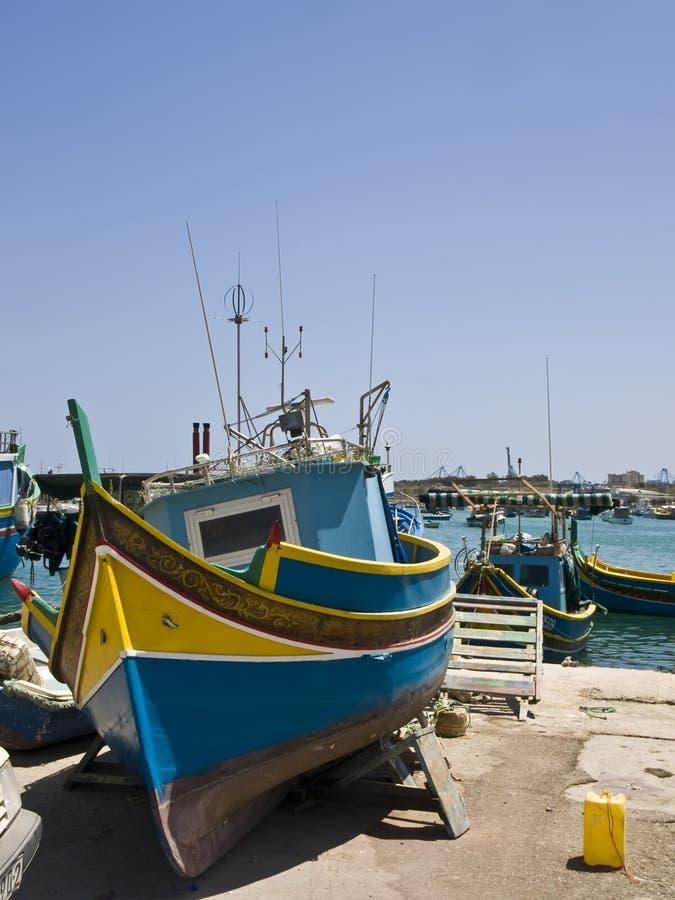 Aldeia piscatória de Malta fotografia de stock