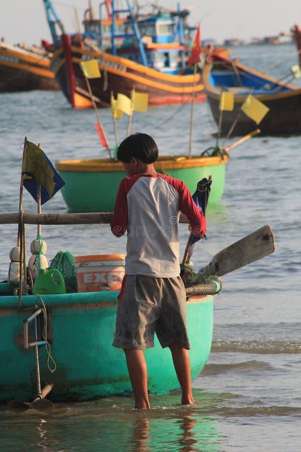 Aldeia piscatória do ne de Vietname Mui imagem de stock