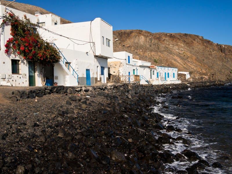 Aldeia piscatória do negro de Pozo, Fuerteventura imagem de stock